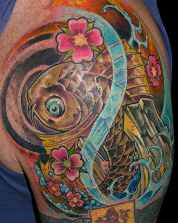 Looking for unique Coverup tattoos Tattoos? koi click to view large image