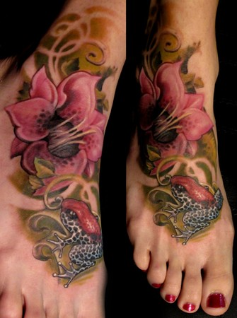Looking for unique Luca Natalini Tattoos? Frog and lily