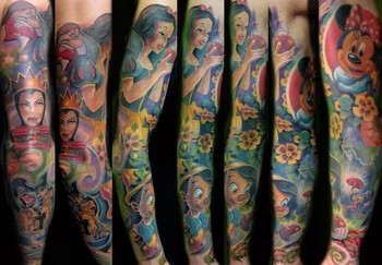 Disney Tattoos on Looking For Unique Tattoos  Disney Sleeve
