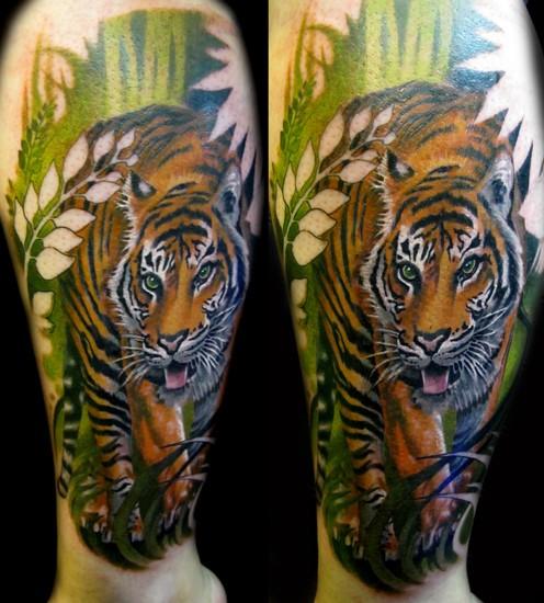 cyber tattoo tiger tattoos. Black Bedroom Furniture Sets. Home Design Ideas