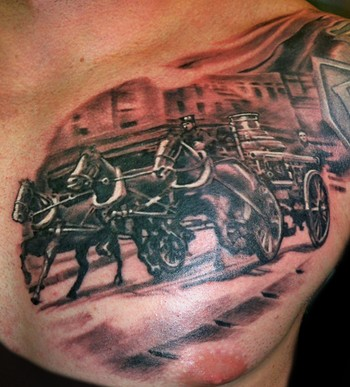 Looking for unique Tattoos? Steam fire engine click to view large image