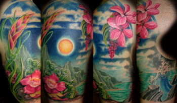 tropical tattoo designs