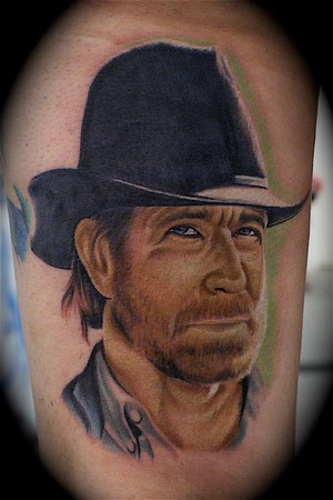 John Montgomery - Chuck Norris Large Image. Keyword Galleries: Color Tattoos
