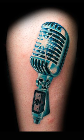 Michele Turco - Microphone Years 50Real Metal Heart Tattoos