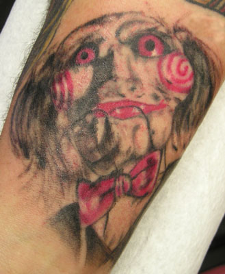 Tattoos Celebrity. Jigsaw Saw Movie. Now viewing image 22 of 22 previous