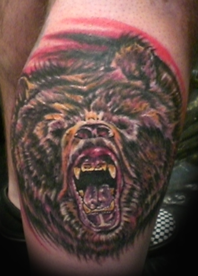 Design 3D Bear Tattoo Picture 2