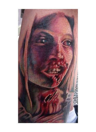 Zombie Little Girl Tattoo Looking for unique Eva...