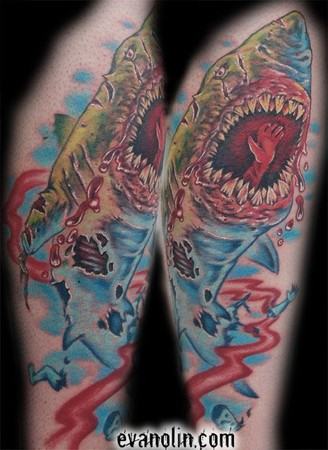 shark tattoo designs. Shark and Fish Designs for