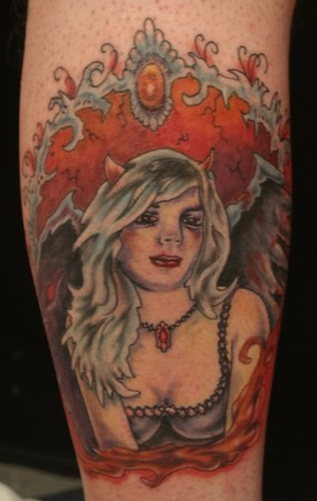 By doing a little search on angel tattoos you could find many devil
