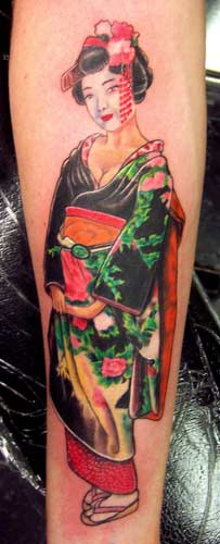 John Pohl - Geisha Girl Tattoo