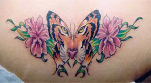 tiger butterfly tattoo. Black Bedroom Furniture Sets. Home Design Ideas