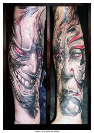 Keyword Galleries: Black and Gray tattoos, Evil tattoos, Custom tattoos
