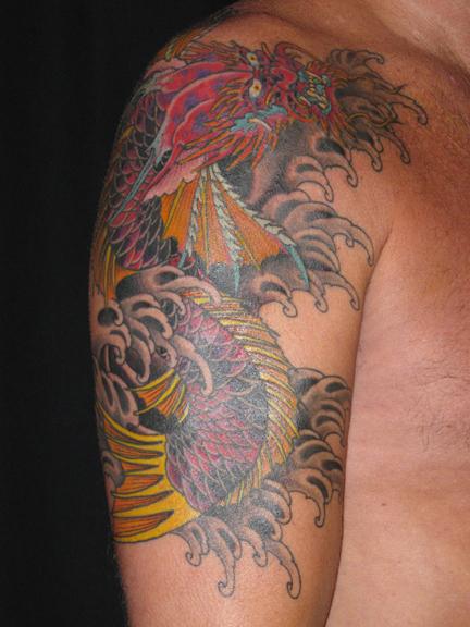 japanese goldfish tattoo. japanese koi fish tattoos.