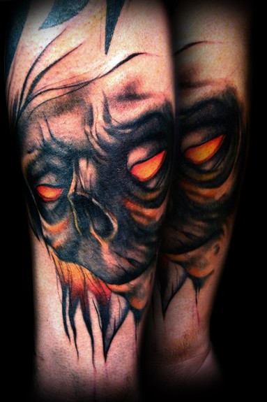 Kelly Doty - Tormented Demon tattoo. Large Image Leave Comment