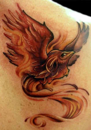 Comments: Another phoenix tattoo! I definitely like doing phoenixes (phoenii
