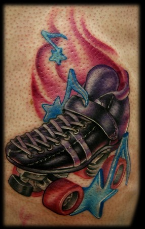 Kelly Doty - Roller Derby Skate tattoo. Large Image Leave Comment