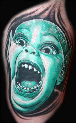 Mario Bell - Sharp Teeth Large Image. Keyword Galleries: Color Tattoos,