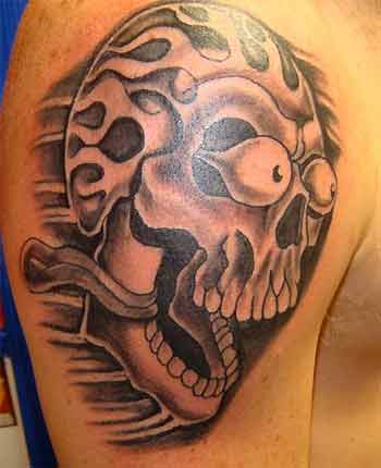 benys skull tattoo by Orlando Ink Tattoos. custom skull. Tattoos. Custom Tattoos. Flying Skull. Now viewing image 76 of 76 previous