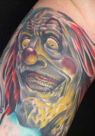 Tattoos · Page 170. Colorful Psyco Clown