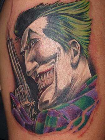 Chad Chase - The Joker Large Image. Keyword Galleries: Color Tattoos,