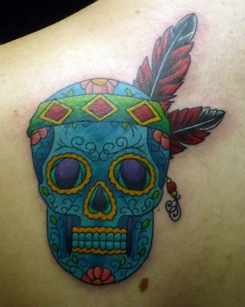 sugar skull tattoo. American Sugar Skull