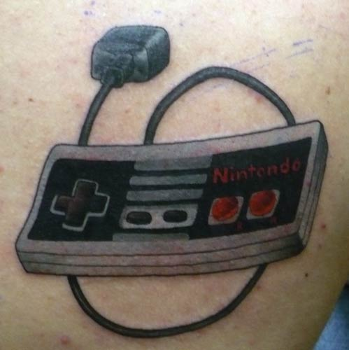 Nintendo Contoller Tattoo click to view large image