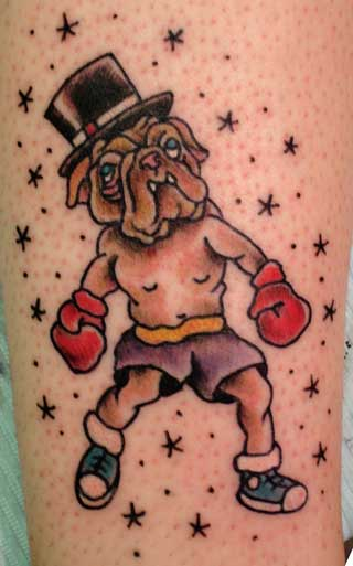 ... for unique Traditional Old School tattoos Tattoos? Bulldog Boxer