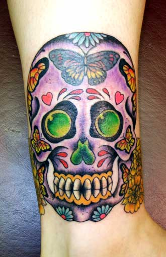 sugar skulls tattoos. a sugar skull tattoo to be