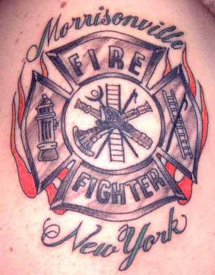 Maltese Cross Tattoo Firefighter  Frank Romano - Maltese Cross