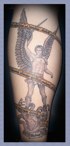 Myth Tattoos, Spiritual Tattoos. Chris Lombardi - The ArchAngel Michael