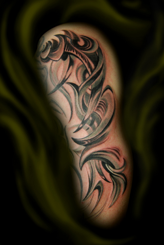 Keyword Galleries: Black and Gray Tattoos, Tribal Tattoos,