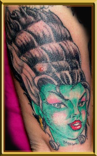 Comments: Fun little piece done on Tina of Kustom Tattoos in MI