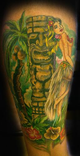 Kind of traditional tiki style tattoo. Keyword Galleries: Color Tattoos,
