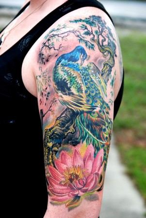 Keyword Galleries: Color Tattoos, Traditional Asian Tattoos, Flower Tattoos,