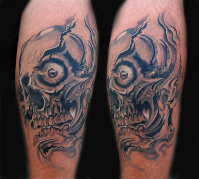 Home Design Photo Gallery on New Skull 3d Tattoo Designs