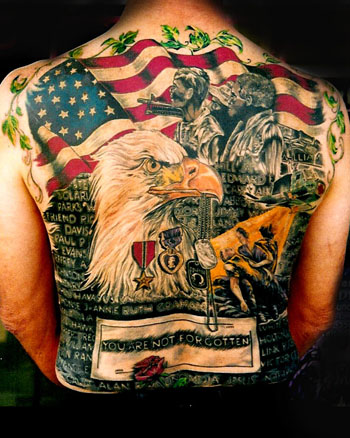 Amerian Flag Tattoos