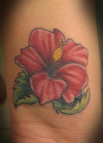 Lil' Hibiscus. Placement: Arm Comments: This piece is a little bigger than a