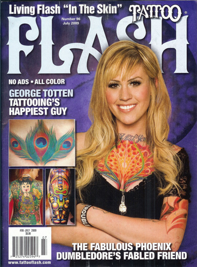 i just got my copy of the newest tattoo flash magazine, july 2009,
