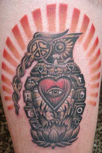 music heart tattoo. Heart tattoos,