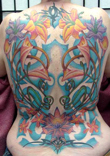Tattoos. Tattoos Flower Vine. nouveau back piece