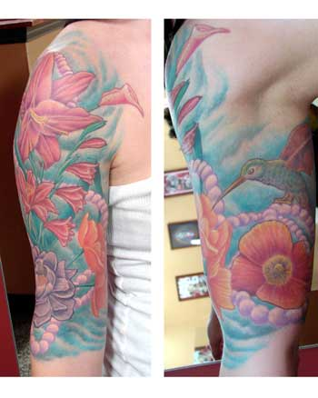 Tattoos. Tattoos Flower Vine. floral half sleeve