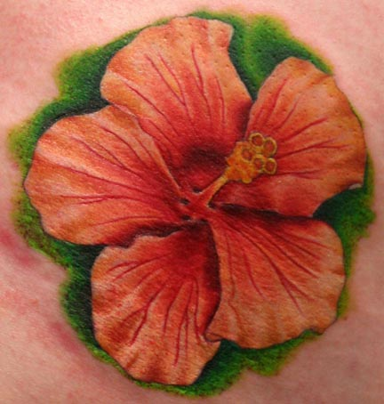 Hawaiian flower tattoos can express the homage that you have to the Hawaiian