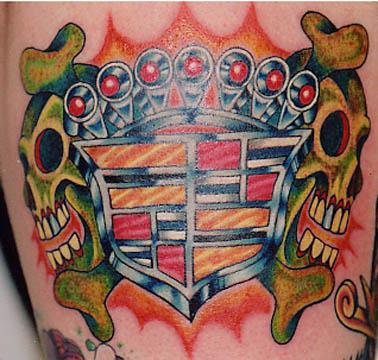 Tattoo Galleries: Cadilac Tattoo Design