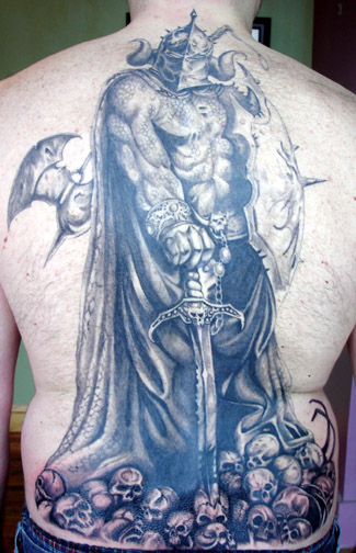Tattoos Fantasy. Warrior Backpiece. Now viewing image 104 of 155 previous
