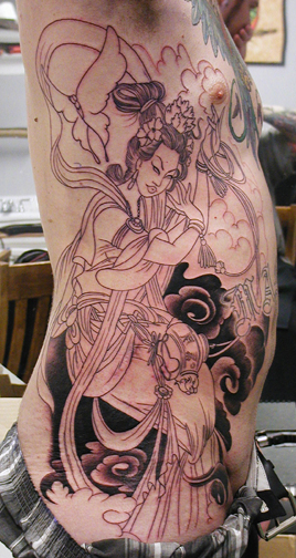Tattoo Galleries: Geisha w/ Incense burner Tattoo Design