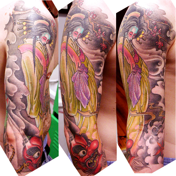 Tattoo Galleries: Geisha Ghost Tattoo Design