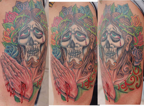 Tattoo Galleries: Day of the Dead Christ Tattoo Design