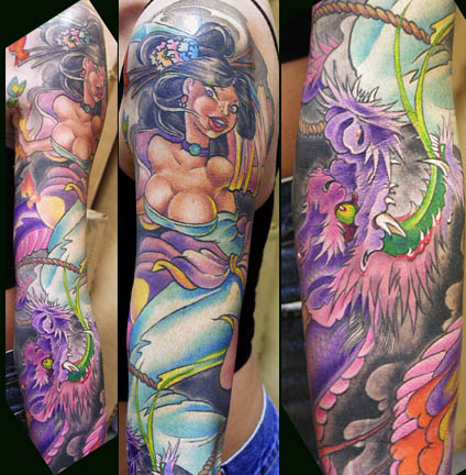 Tattoo Galleries: Girly Dragon, and Geisha Tattoo Design