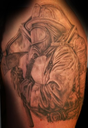 Tim Harris - Firefighter Large Image Leave Comment. Tattoos