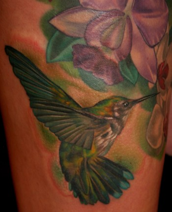 Tim Harris - Hummingbird and Orchids Large Image Leave Comment. Tattoos